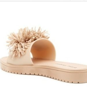 Dirty Laundry Shoes - Dirty Laundry Paseo Beige tan fringe slide sandles